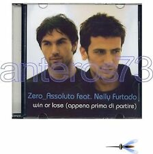 ZERO ASSOLUTO feat NELLY FURTADO CDsingle PRO GERMANY