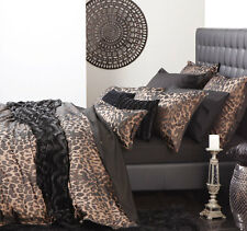 Serengeti Animal Print Super King Size Quilt Cover Set Logan & Mason New