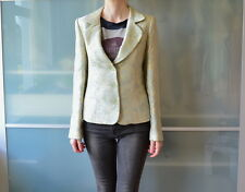 Marks and Spencer M&S green brocade blazer jacket ~ UK 12