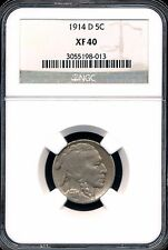1914-D Buffalo Nickel Ngc Xf40