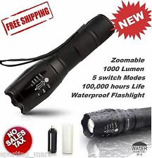 Ultrafire CREE XM-L T6 Zoomable 2000 Lumen Tactical LED Flashlight Torch Lamp