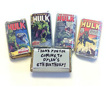 50 HULK INCREDIBLE HULK MINI CANDY BAR WRAPPERS PARTY FAVORS