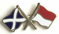 Scotland & Indonesia Flags Friendship Courtesy Enamel Lapel Pin Badge