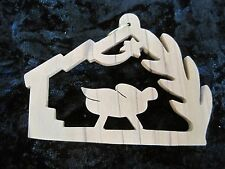 Olive Wood Baby Jesus In Manger #2 Christmas Ornament