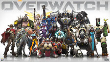 "Overwatch Blizzard Hot New game Art 2015 25""x14"" Poster"