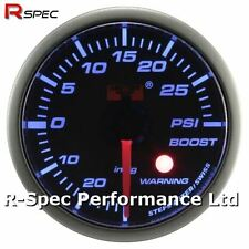 52mm Blue Stepper Motor Warning Turbo Boost Pressure Gauge Psi - With Warning