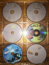 Disney 6  DVD Lot: Mermaid Nemo Wall-e Wreck It Ralph Cinderella Alice Disc Only