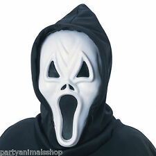 Halloween Howling Ghost Scream Fancy Dress Horror Mask + Hood