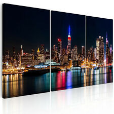 New HD Canvas Print Home Decor Wall Art Painting New York Port Scape Unframed