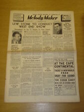 MELODY MAKER 1936 SEPT 26 LEW STONE ALFIE NOAKES JACK PAYNE BIG BAND SWING
