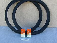 [2] NEW 29'' x 2.10 ALL BLACK  BICYCLE TIRES W [2] TUBES FOR MTB, TRACK, ETC