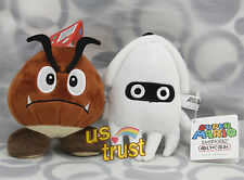 Super Mario Brothers Goomba & Blooper Plush Doll Toy Brand New