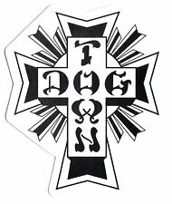 Dogtown Skates Black Cross Skateboard Sticker - old school skateboarding venice