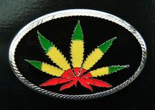 Cool Rasta Pot Leaf Marijuana Cannabis Plant Belt Buckle Cool Boucle de Ceinture