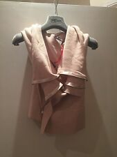 BNWT Crea Concept dusty pink wool mix gilet with zip detail  Fr 38 UK 8/10