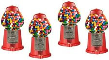 4 x Mini Gumball Dispenser Machine Toy With Bubble Gum Party Bag Coin Opreated