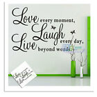 Live Laugh Love Quote Art Vinyl Removable Wall Sticker Words Home Decor Decals