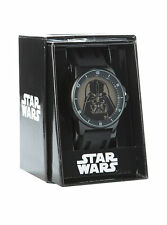 STAR WARS VILLAIN DARTH VADER BLACK METAL WRIST WATCH QUARTZ JAPANESE MOVEMENT