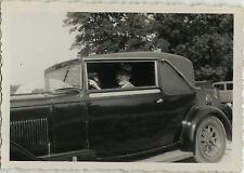 PHOTO ANCIENNE - VINTAGE SNAPSHOT- VOITURE AUTOMOBILE DÉCAPOTABLE ÉLÉGANCE - CAR