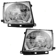 New Pair Set Headlight Headlamp Assembly DOT 97-00 Toyota Tacoma Pickup Truck