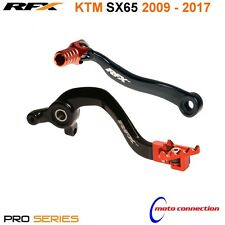 NEW KTM SX65 2009 - 2017 RFX GEAR LEVER & REAR BRAKE PEDAL COMBO BLACK ORANGE