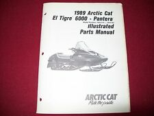 Arctic Cat El Tigre 6000 Pantera OEM Illustrated Parts Service Manual 1989