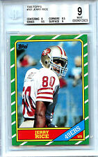 Topps 1986 Jerry Rice #161 San Francisco Forty Niners  BGS 9.0 M RC Year Card