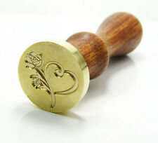 Fixed Design Personalized Customize DIY Logo Gold Plated Wax Seal Stamp + Handle