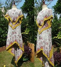 Etro Paisley Scarf Print Silk Dress Kaftan Gown Dress w/ Wings I40/S-M