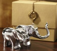 Pottery Barn Elephant Salt and Pepper Shakers Gift Boxed Set New