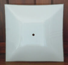 NEW White Frosted Glass Square Ceiling Light Cover Shade Fixture 11.75""