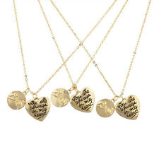 Lux Accessories Goldtone Your Are Always in my Heart Pinky Swear Charm Necklace