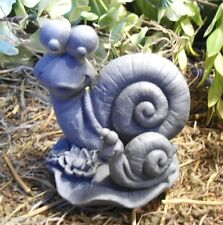 Latex only snail mom and baby mold plaster cement concrete mould