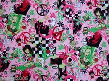 Fabric by the Yard - Kawaii from Hawaii - Contemporary Geishas Pink