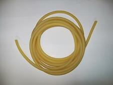 "5 Feet     3/8"" I.D x 1/32"" wall      Latex Rubber Tubing Amber Thin Wall"