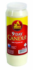 9 DAY MEMORIAL CANDLE - - -tall pillar single wick week weekly vegetable oil wax