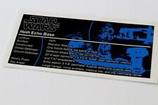 Lego Star Wars UCS / MOC Sticker for Assault on Hoth (7666 / 7879 / 75098)