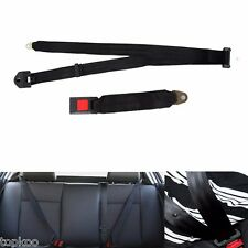 Universal Black 3 Point Vehicle Car Truck Seat Belt Lap Safety Belts