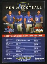 Trey Watts--2013 Tulsa Golden Hurricane Football Magnet Schedule