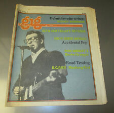 1978 THE MUSIC GIG Newspaper v.4 #7 VG Elvis Costello BOB MARLEY Rasta Struggle
