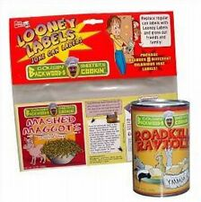 Looney Soup Comic stick on (8 Labels) gag kitchen cans