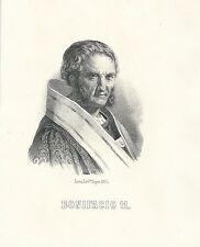 1855 PAPA BONIFACIO II santino litografia orig. Doyen Roma Basilica San Pietro