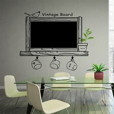 Removable Wall Sticker Kitchen Chalk Board Decal Blackboard Bird Sticker #A