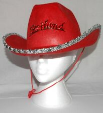 Fancy Dress England Cow Girl Ladies Hat Red with Red England Badge A003.82