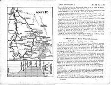 03 Châteldon Montpeyroux Ferrière 1909 carte + guide (6 p) St-Priest Beaulouis