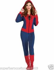 The Amazing Spider-Man Spider-Girl Costume Cozie Jumpsuit Pajamas Size Large-XL