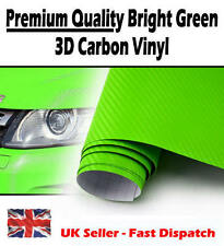 1520mm x 500mm Vert Brillant 3D fibre de carbone vinyle drain de l'air - Autocollant Voiture Wrap