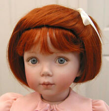MARY FRANCES WIG Carrot Red size 10-11 short straight hair for girl dolls NEW