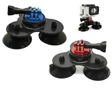Triple Suction Cup Car Windscreen Dash Mount + Screw for GoPro HERO 1 2 3 3+ 4