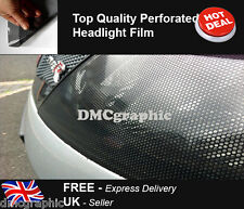 2xA4 Perforated Car Window Fly Eye Headlight Film Mesh One Way Vision Wrap Tint